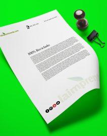 A4 impreso en papel reciclado 100% premium