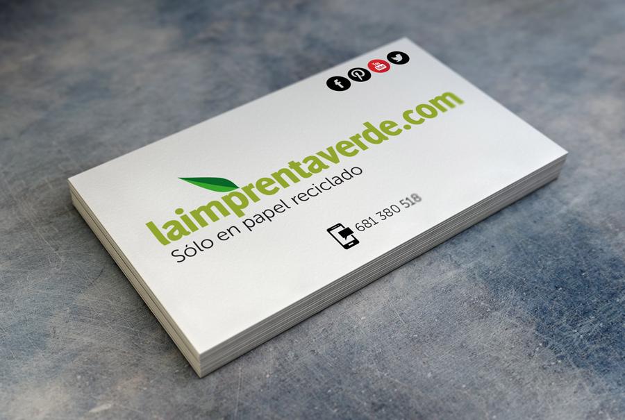 Tarjetas de visita en papel reciclado 100%